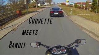 2. Corvette C6 meets Suzuki Bandit 1200