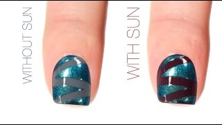 Zig Zag Color-Changing Nail Art Design