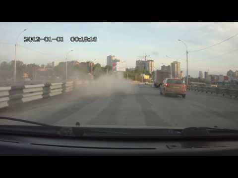 Последние секунды жизни мотоциклиста из Новосибирска попали на видео