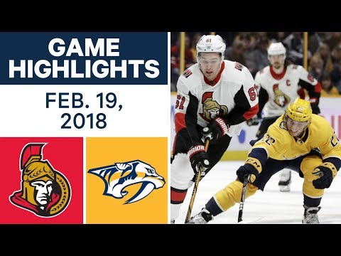Video: NHL Game Highlights | Senators vs. Predators - Feb. 19, 2018