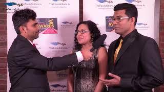 Anchor Manoj talks to Sandeep and Nivya on the Red Carpet