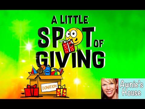 🎁 Kids Book Read Aloud: A LITTLE SPOT OF GIVING by Diane Alber