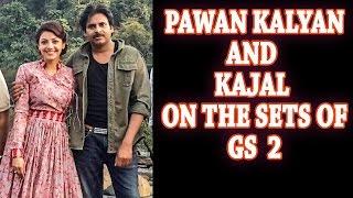 Latest Pics of Pawan Kalyan and Kajal Aggarwal On the Sets of Sardaar Gabbar Singh