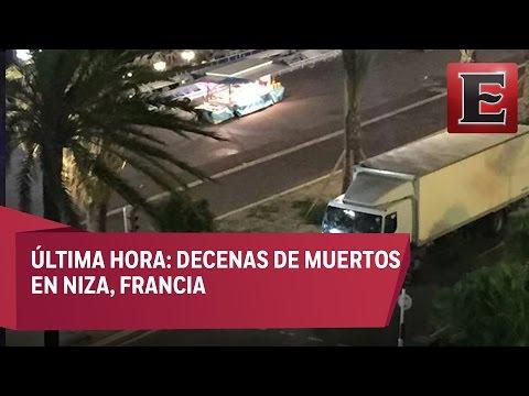 Camión atropella a multitud en Niza, Francia