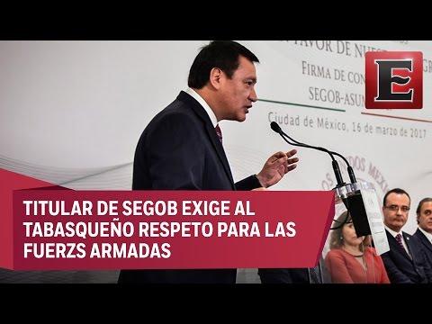 Osorio Chong pide a AMLO pruebas contra el Ejército en caso Ayotzinapa