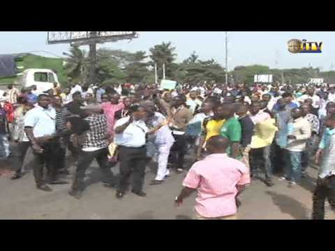 Protest By Staff And Students Of Uniben Over Demolition Of Property By Edsg Enters 3rd Day