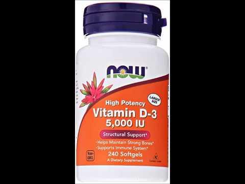 NOW Vitamin D 3 5,000 IU,240 Softgels