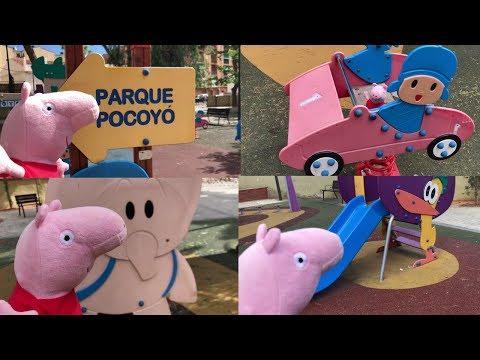 Peppa en el parque de columpios de Pocoyó  Vídeos de Peppa Pig en español