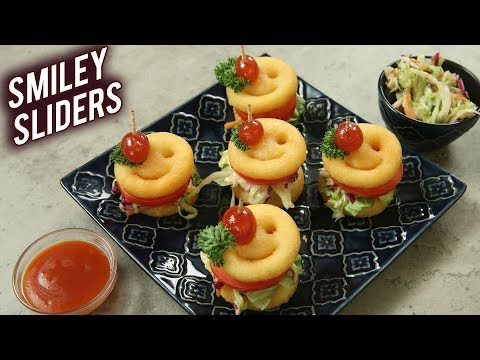How To Make Sliders | McCain Smiley Sliders | Coleslaw Recipe | Sliders Recipe By Varun