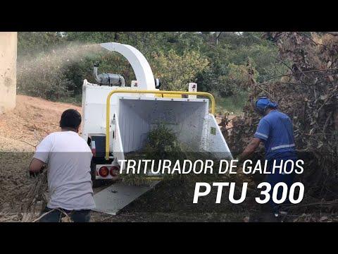 Triturador de galhos de alta produtividade PTU 300