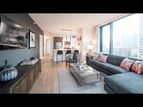 A -12 one-bedroom model at The Paragon, a new, amenity-rich South Loop tower