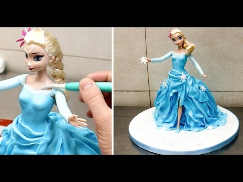 Unbelievable Easy Way To Make A 'Frozen' Elsa Princess Cake(VIDEO)