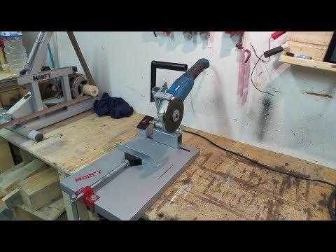🔨 Troncatrice per ferro fai da te supporto smerigliatrice angolare angular grinder support DIY