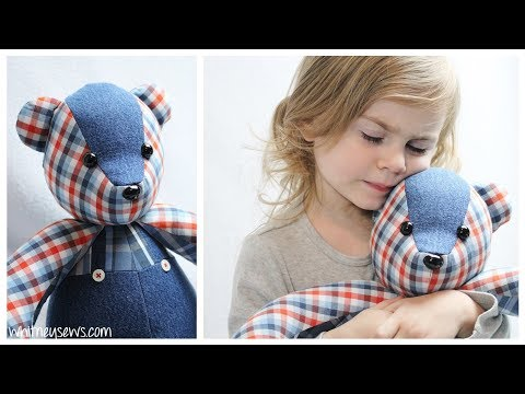 How to Install Eyes and Noses on Stuffed Animals | Sewing Memory Bears 🐻 | Whitney Sews
