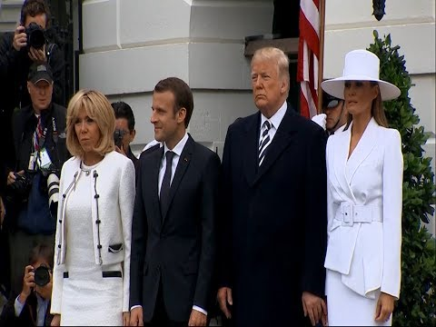 Melania Trump Shines During Official State Visit (видео)