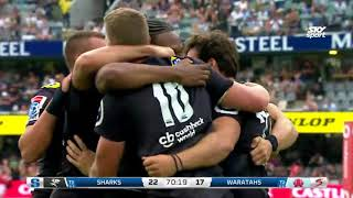 Sharks vs NSW Waratahs Rd.3 2018 Super Rugby video highlights