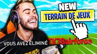 JE FAIS QUE DE PRANK THEKAIRI78 SUR LE NEW MODE TERRAIN DE JEUX FORTNITE BATTLE ROYALE !!!