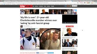 'My life is over': 21-year-old Charlottesville marcher whines over 'outing' by anti-fascist group ...