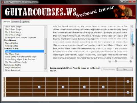 Learn The Guitar Fretboard with this Free Software