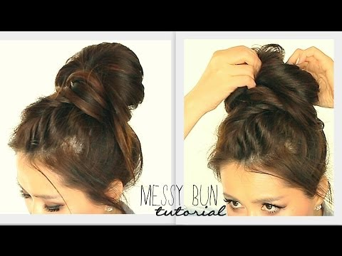 ★ BIG MESSY BUN CROWN BRAID TUTORIAL | CUTE SCHOOL HAIRSTYLES FOR MEDIUM LONG HAIR | UPDOS PROM