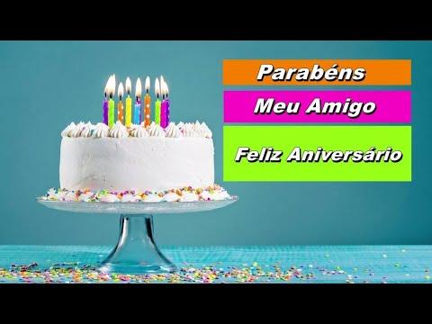 Msg de aniversário - Mensagem de aniversário para amigo voz feminina 01