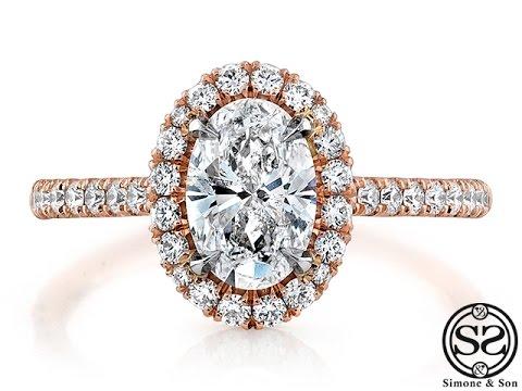 Custom Rose Gold Halo Engagement Ring