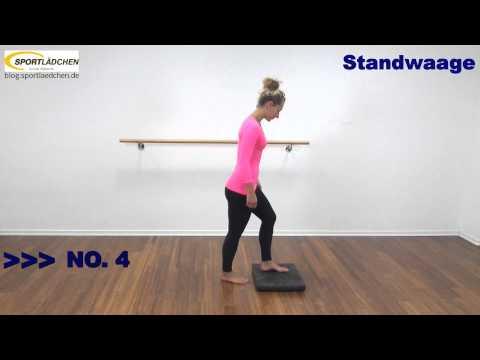 Balance Pad Übungen für Gleichgewicht und Koordination