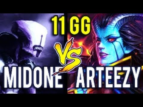 MidOne & Arteezy WTF 11 Min GG Perfect Game of 20k MMR Dota 2