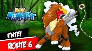 Hey Monster Entei Route 6 Tutorial 1HP Paralysed by Pokémon GO Gameplay