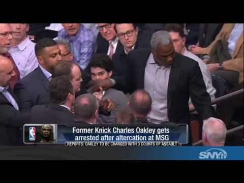 Video: More Knicks Drama: Charles Oakley ejected and arrested at MSG