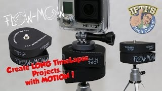 Flow-Mow opens up new possibilities for adding motion to your time-lapse video. Flow-Mow can rotate your camera up to 360°, giving you a 2 hour long pan, slo...