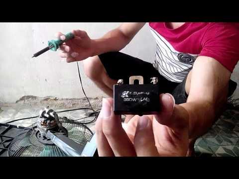 Tự sửa quạt đơn giản : cách thay tụ cho quạt
