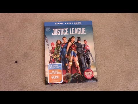 Justice League (2017) Blu-ray Unboxing