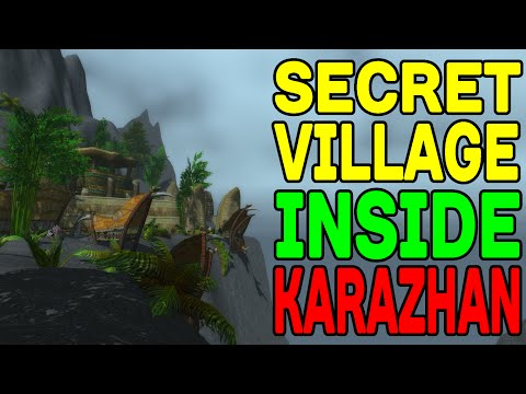 World of Warcraft: Secret Village Hidden INSIDE Karazhan !!