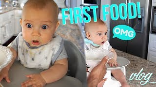 This has been a HUGE week for baby Carter: first teeth, sitting up and his first solid food! I also show my easy meal prep for the week. Thumb's up if you enjoy seeing Carter in the vlogs! CLICK FOR LINKS AND INFO ☟ ☟ ☟ ♡ S O C I A L M E D I A ♡ Follow for cute Carter photos! INSTAGRAM:  http://instagram.com/vasseurbeauty TWITTER:  https://twitter.com/vasseurbeauty♡ M Y  P R O D U C T S ♡ I have a line of premium, all-natural body care products safe for pregnant & breastfeeding women and babies! Buy my body care bundle - body lotion, body wash and body oil - and save 25%! Free shipping in USA, ships internationally. https://vasseurskincare.com/collections/body-care/products/vasseur-beauty-kit♡ I N F O ♡* NEW *  Blog post with ALL of my essential/top baby products & toys⇒ https://goo.gl/Y1G9mW MEAL PREP⇒ Recipe: Saute bell peppers, onion, mushrooms, corn, and black beans. Top with shredded chicken. I had with a side of brown rice. TO STORE: I store 3 meals in the refrigerator and the rest in the freezer. To reheat I remove the food from the plastic container and put on a tray in the toaster oven for 10 mins at 350 OR if I'm in a hurry I reheat in the microwave for 2 minutes (fridge) and 4 minutes (if frozen). ⇒ Meal prep containers: http://amzn.to/2qVpnVT ⇒ Posture support brace http://amzn.to/2rglQBH ⇒ Water play mat (amazing for tummy time!) http://amzn.to/2rT7dr5  ⇒ Baby oatmeal http://amzn.to/2sn9gE4 ⇒ Teething necklace http://amzn.to/2srahMq ⇒ Decaf coffee (I drink decaf because I am sensitive to caffeine but they have a caffeinated version too) http://amzn.to/2szqu1R ⇒ Decaf Chai tea http://amzn.to/2s919c6 ⇒ Bead maze toy with suction cups http://amzn.to/2t0ylmn ⇒ Book: Mama Mama http://amzn.to/2rgmJKM ⇒ Book: Giraffes Can't Dance http://amzn.to/2rZmc2l ⇒ Gobble meal kits- these are aaaaaaaamazing and FAST to prepare! https://gobble.com/invites/G0BrHROlV ⇒ Ryan's shirt https://goo.gl/sZIaiq ⇒ Vlog camera http://amzn.to/2s5Pr5a  ⇒ List of ALL of my essential/top