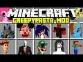 Minecraft CREEPYPASTA MOD!   JEFF THE KILLER, SLENDERMAN, SONIC.EXE & MORE!   Modded Mini-Game