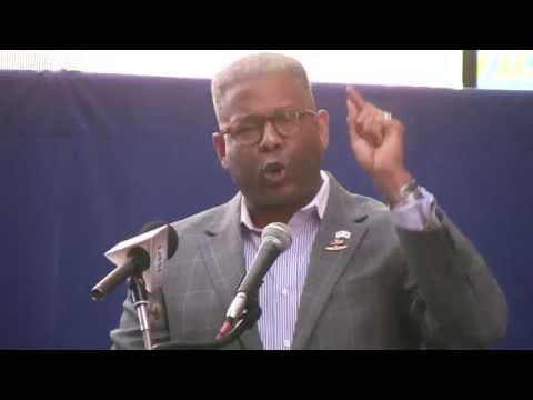 Original, Col. Allen West slams Obama in N.Y. anti-Iran Rally; Best cheers video