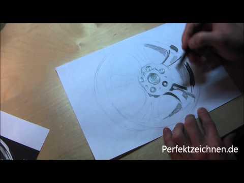 Metall Zeichnen Lernen: Geniale Chrom Silber Spiegelung Reflektionen Zeichnen