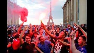 Locura en París tras la victoria de Francia en Rusia 2018