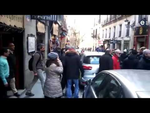 Polizeichef Madrids von der Polizei gejagt