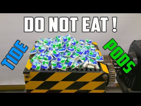 Shredding 500 Tide Pods ( Tide Pod Challenge the SAFE way ! )
