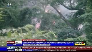 Download Video Lava Gunung Karangetang Meluas Hingga ke Laut MP3 3GP MP4