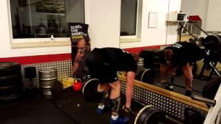 Deadlift 3x 350 kg Strongman Wildauer - 16.01.2016