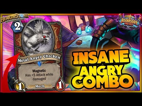INSANE ANGRY COMBO - Hearthstone - WTF RNG Moments