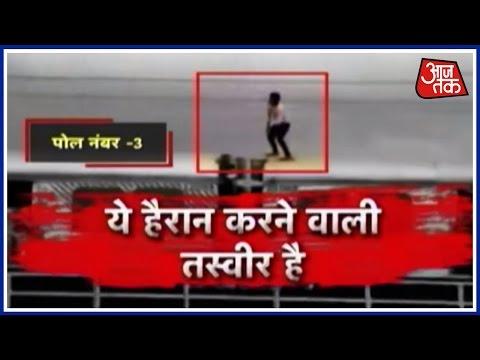 Man Performs Life-Threatening Stunt On Roof Of Mumbai local