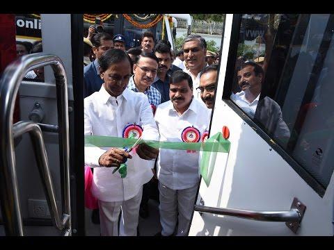 CM KCR Launches Vajra Bus Service of TSRTC