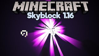 Taking Down the Ender Dragon in Skyblock! • Minecraft 1.16 Skyblock (Tutorial Let's Play) [Part 20]