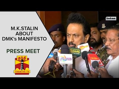 M-K-Stalins-Press-Meet-On-DMK-Manifesto--Thanthi-TV