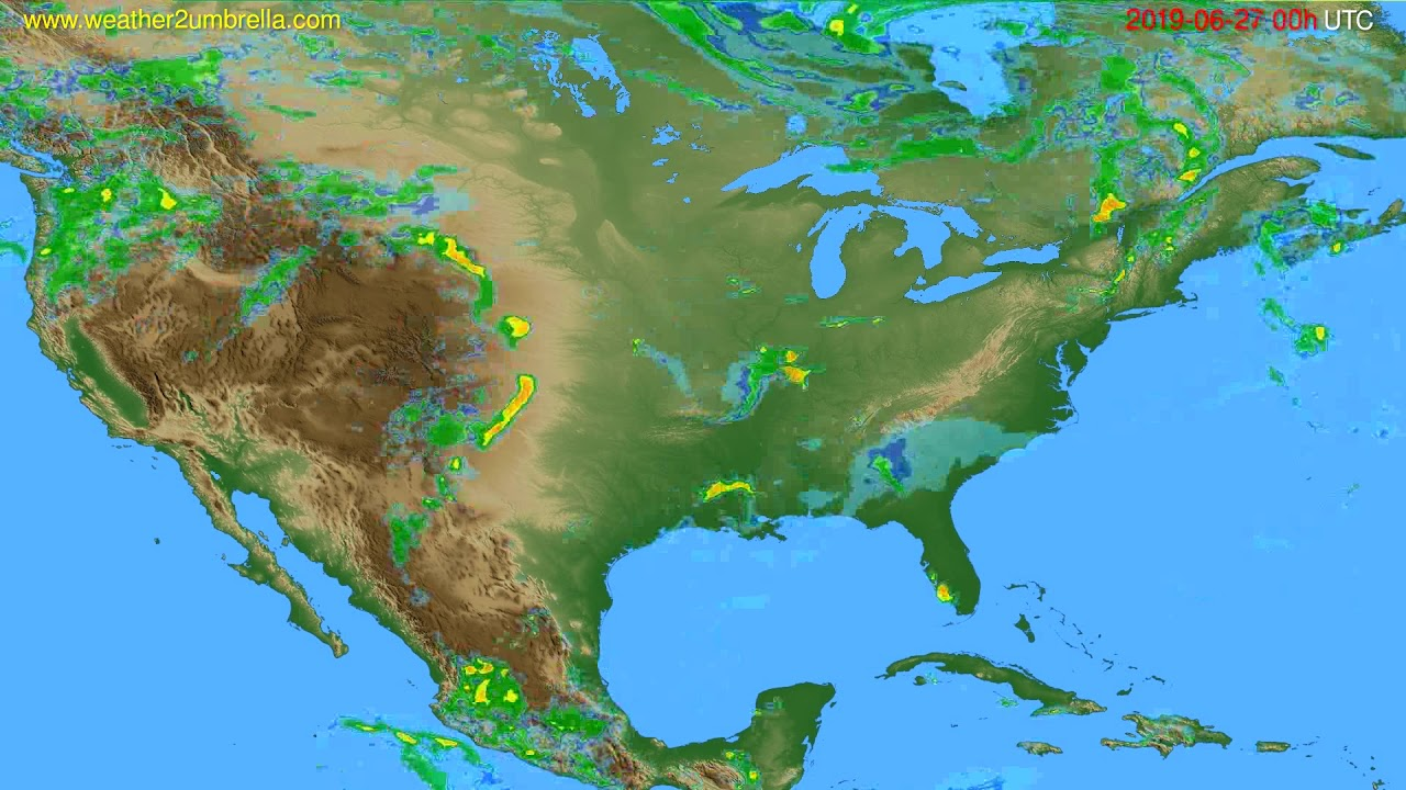 Radar forecast USA & Canada // modelrun: 12h UTC 2019-06-26