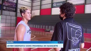 Jovem atleta de Bauru é promessa no basquete
